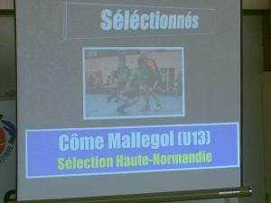 """Come Mallegol (U13) séléctionné en """"Sélection U13 Haute normandie"""""""