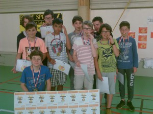 U13 Région, 3ème meilleure équipe de Haute-normandie! Vainqueur du tounroi de Césaire
